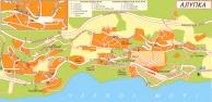 Увеличить и посмотреть карту Алупки