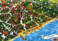 Увеличить и посмотреть карту Алушты