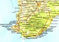 Увеличить и посмотреть карту Южного берега Крыма