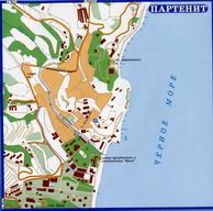 Увеличить и посмотреть карту Автомобильных дорог Крыма -Партенит