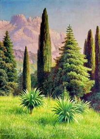 Картина художника Г.П. Кондратенко 'Пейзаж с Ай-Петри'.