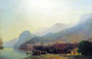 Художник Айвазовский И.К. 'Алушта' 1878.